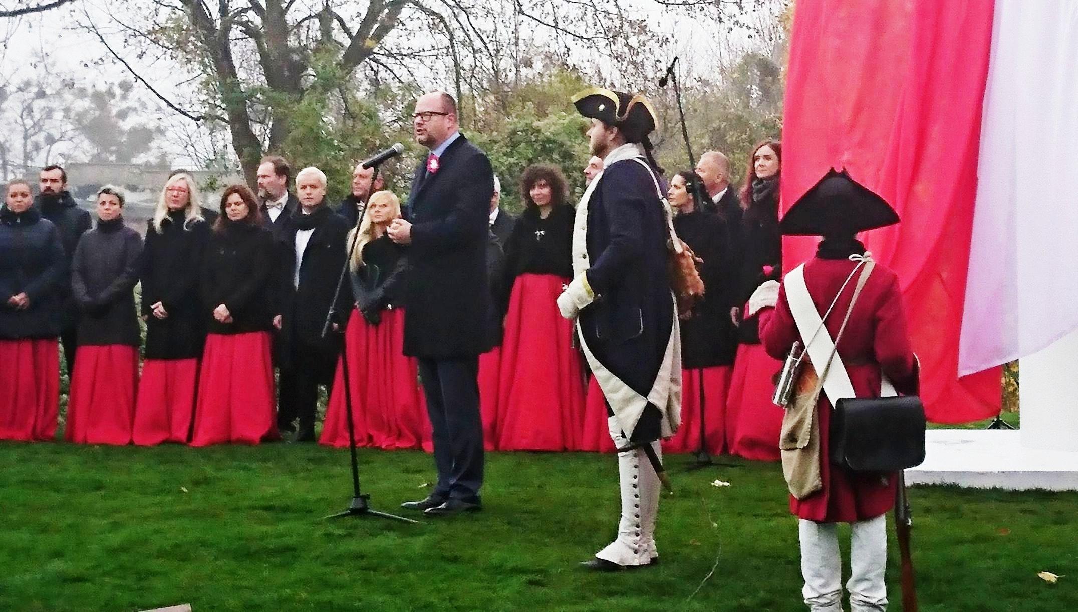 10 listopada 2018 - Prezydent Adamowicz na Gradowej Górze (fot. A. Januszajtis)