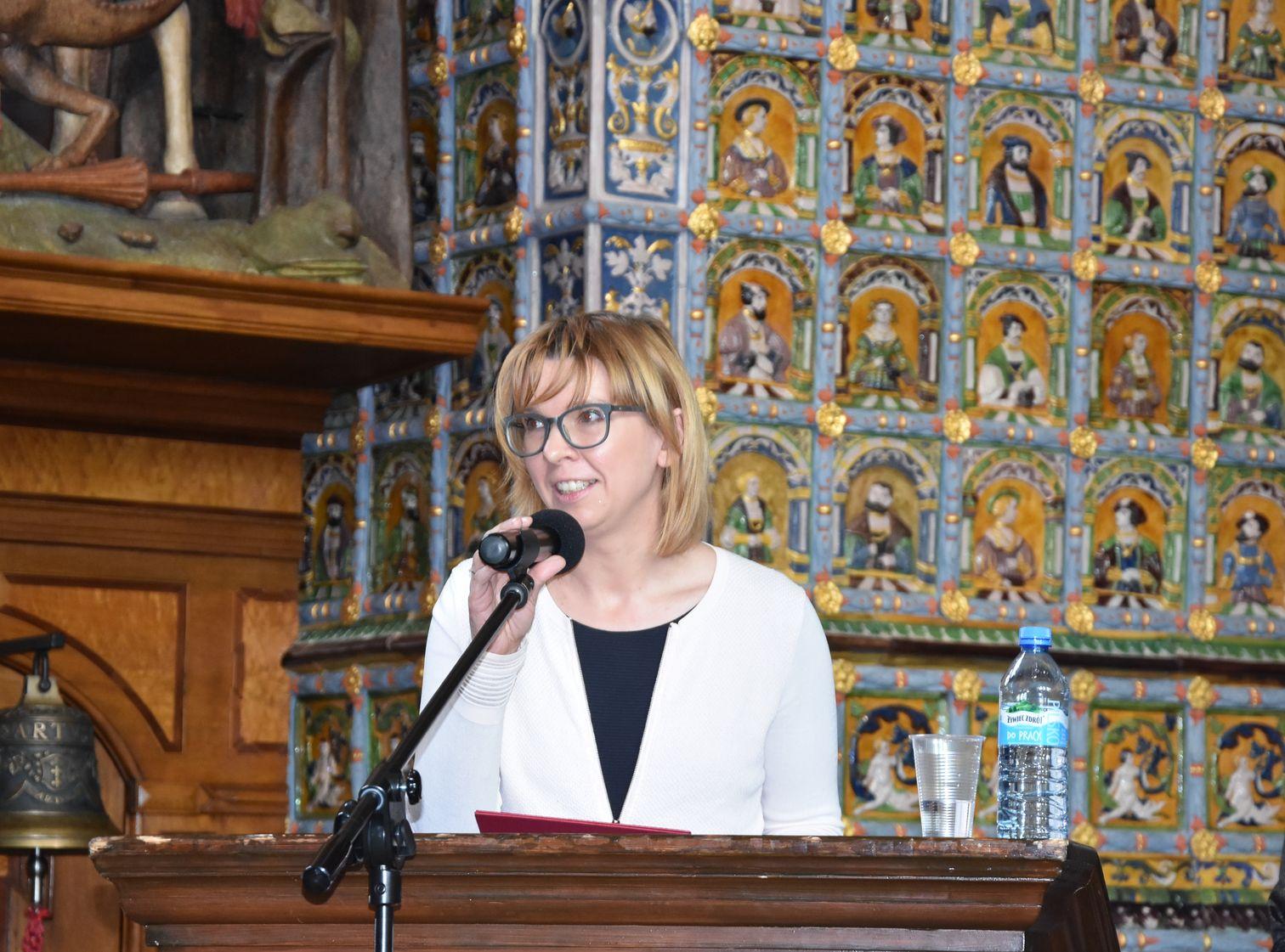 Wiceprzewodnicząca Rady Miasta w Dworze Artusa Fot. J.Wikowski A31_7402
